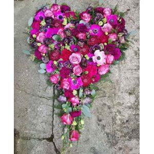 Blomsterhjerte til begravelse i Horsens og omegn