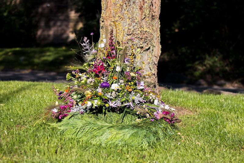 Elegant krans til begravelse