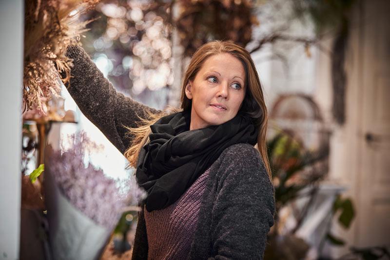 Blomsterdekoratoer Michele Bech Weimar hos Tromborg Blomster i Horsens