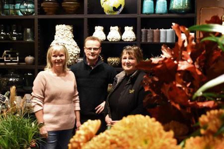 Blomsterbinder Karin Johansen hos Tromborg Blomster i Horsens