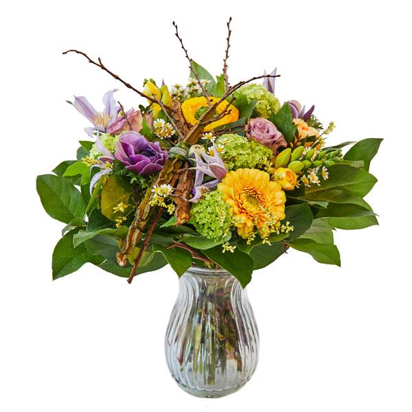 Floristens lave buket til levering i Horsens og omegn