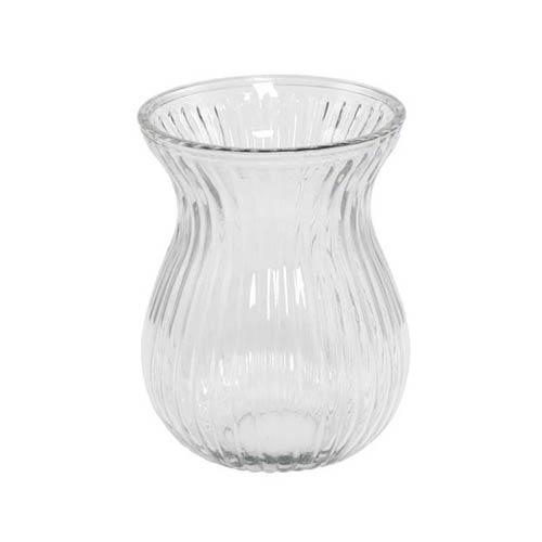 Klar vase til luksusbuketter/større buketter –højde: 19 cm – diameter: 14 cm