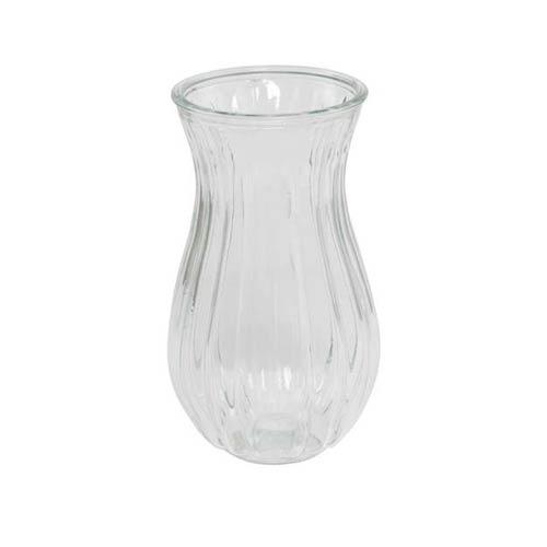 Klar vase til mellemhøje/høje buketter –højde: 23 cm – diameter: 12,5 cm
